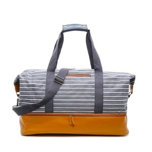 J.M Wechter weekender striped bag/NEW without tag